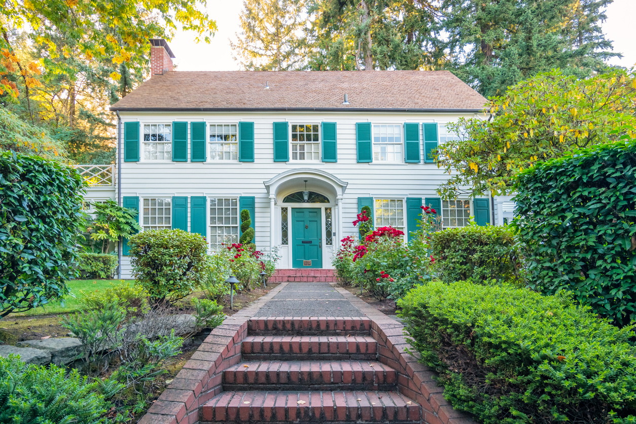 Traditional clapboard house